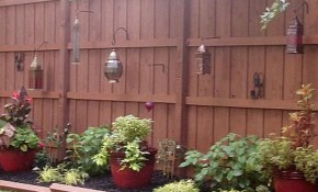 Reclaim Your Backyard With A Privacy Fence Exteriors with regard to 12 Awesome Concepts of How to Makeover Small Backyard Fence Ideas