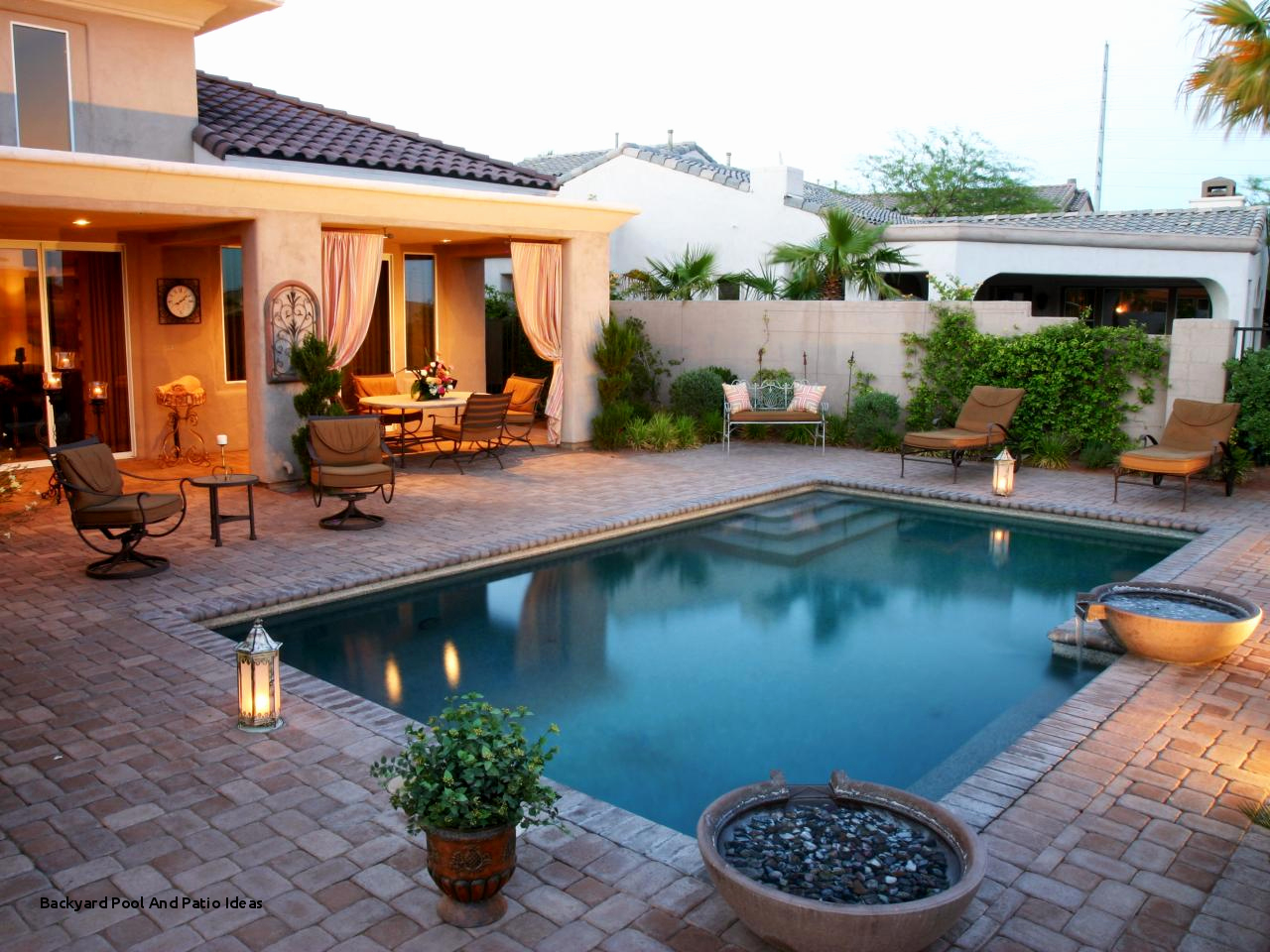 Rectangular Pool Designs And Shapes Unique Backyard Pool And Patio with regard to Backyard Pool Patio Ideas