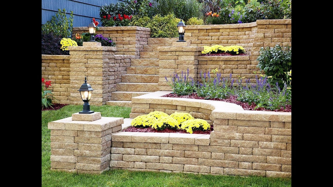 Retaining Wall Design Ideas For Landscaping inside 12 Clever Ideas How to Upgrade Backyard Retaining Wall Ideas