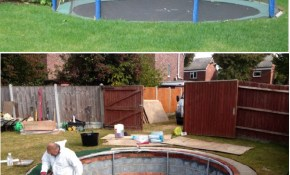 Safe And Cool A Sunken Trampoline For Kids For The with 12 Some of the Coolest Designs of How to Upgrade Cool Backyard Ideas For Kids