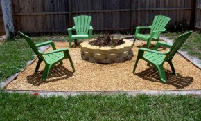Simple Backyard Ideas Outdoor Outdoor Green Chairs For Simple throughout Inexpensive Backyard Patio Ideas