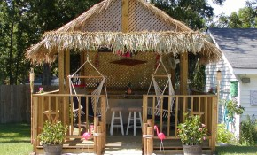 Synthetic Palm Thatch Synthetic Faux Palm Thatch Synthetic Faux Reed for 11 Some of the Coolest Ways How to Build Backyard Tiki Hut Ideas