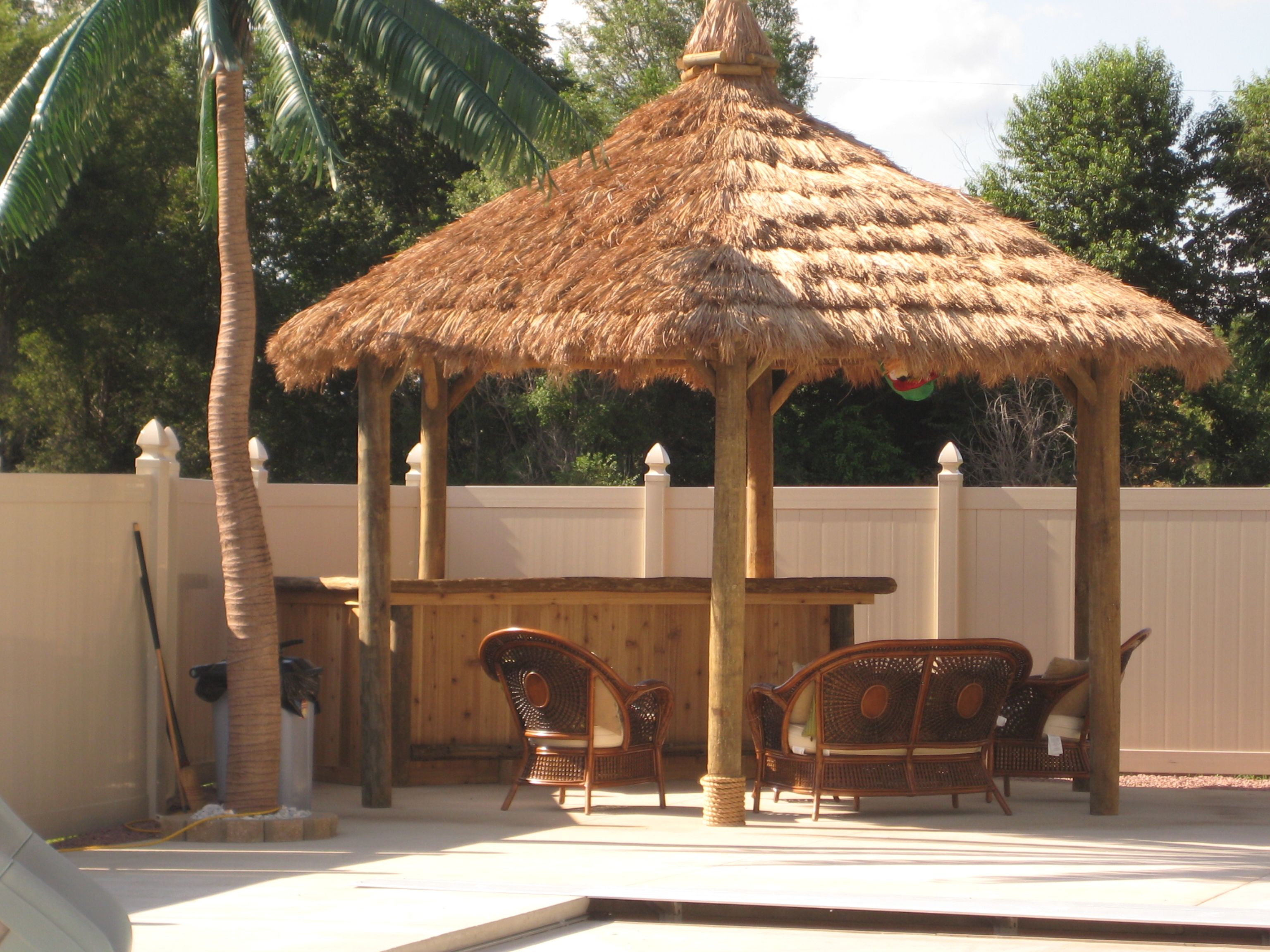 Thatch Roof Kits For Deck How Make Tiki Hut Palm Leaf Roof Ehowcom with 11 Some of the Coolest Ways How to Build Backyard Tiki Hut Ideas
