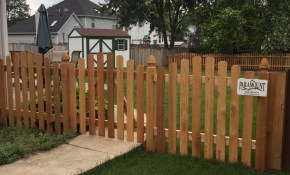 Types Of Fence Batavia Il Paramount Fence inside Backyard Fencing