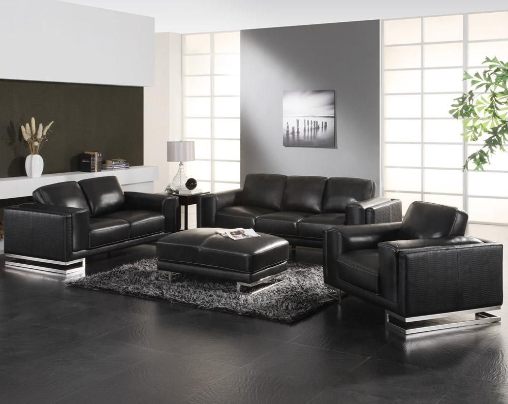 17 Classy And Elegant Black Living Room Furniture Modern inside Black Living Room Sets