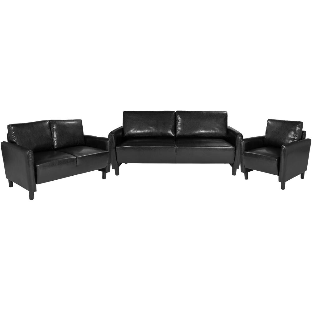 2 Piece Black Leather Living Room Sets regarding 12 Clever Designs of How to Improve White Leather Living Room Sets
