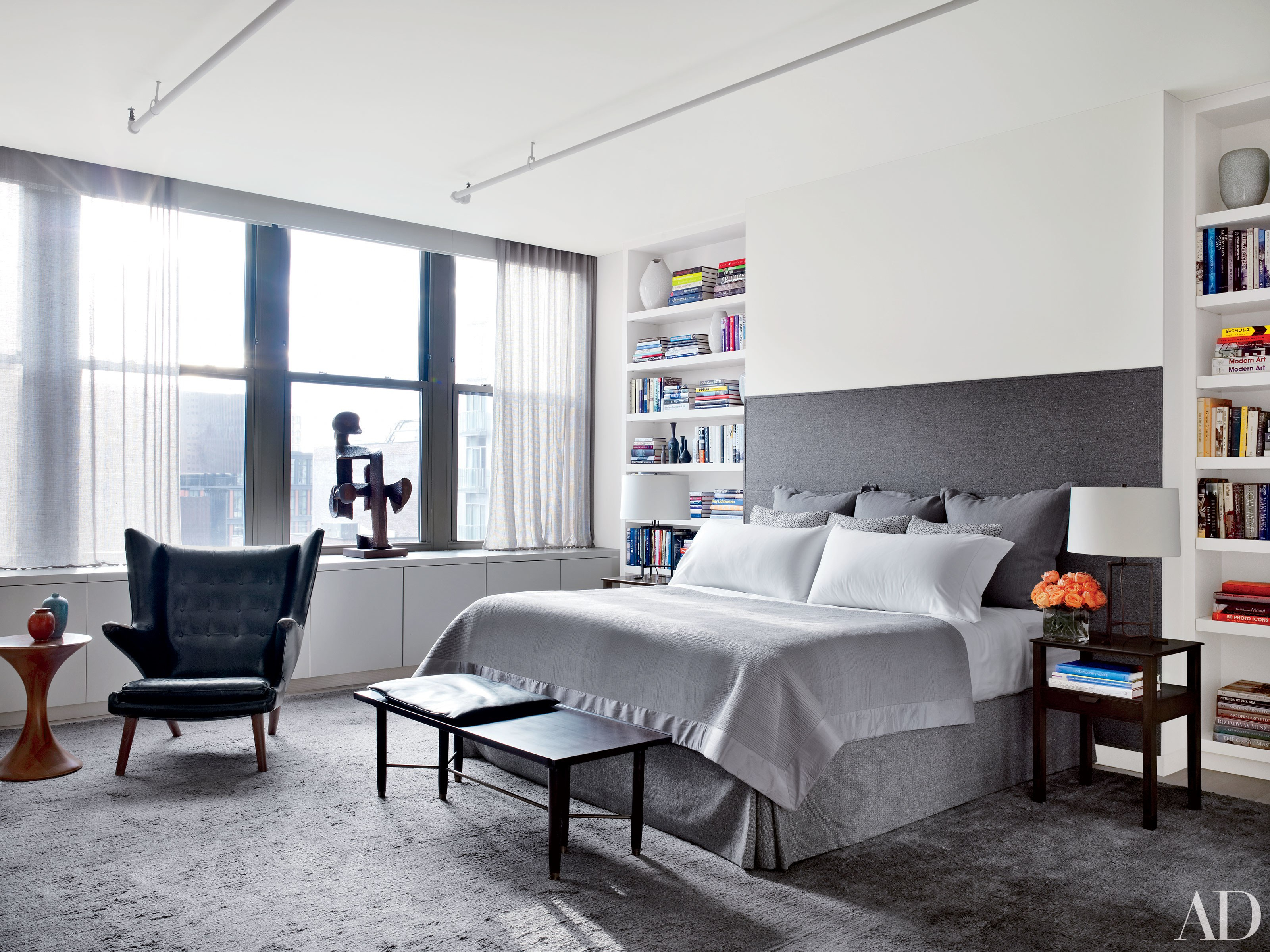 24 Contemporary Bedrooms With Sleek And Serene Style within Modern Bedroom Decorating