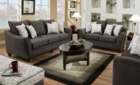 3850 Series 4 Piece Living Room Set In Flannel Seal Am 3850 4040 Living Set Gg for 4 Piece Living Room Set