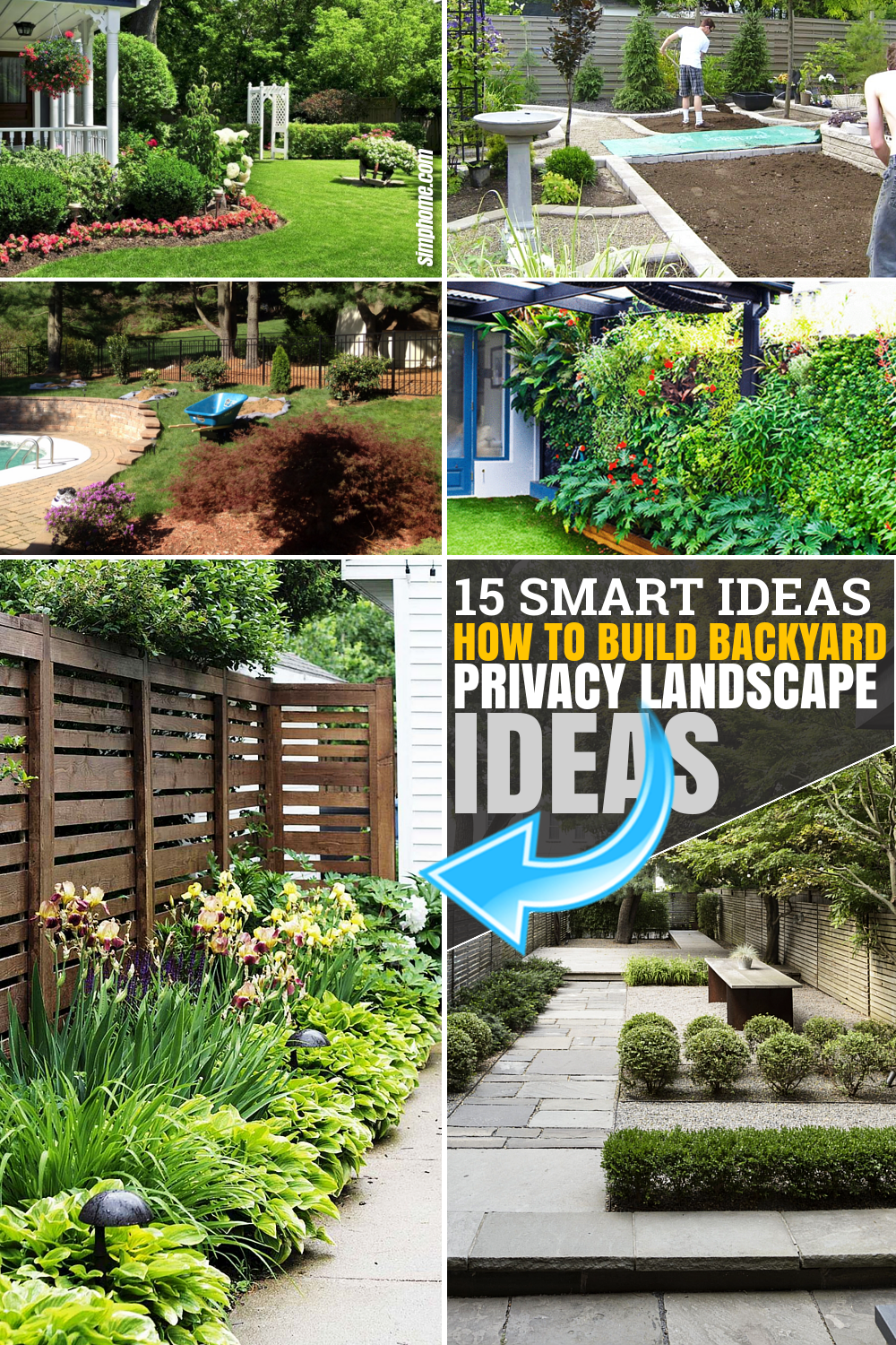 Poster 15 ideas How to Make Backyard Privacy Landscaping