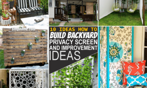 10 DIY Backyard Privacy Screen Ideas