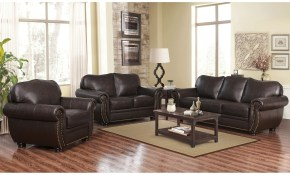 Abson Richfield Top Grain Leather 4 Piece Living Room Set pertaining to 15 Smart Designs of How to Improve 4 Piece Living Room Set