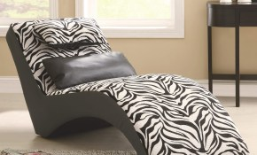 Accent Seating Modern Zebra Print Furniture Chaise For Living Room Comfort in 13 Smart Initiatives of How to Improve Zebra Print Living Room Set