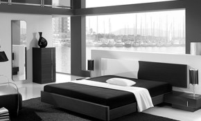 Black And White Modern Bedroom Furniture Inspiring Home in Modern Bedroom Setup