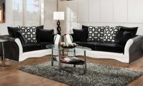 Black And White Sofa And Love Living Room Set with regard to All White Living Room Set