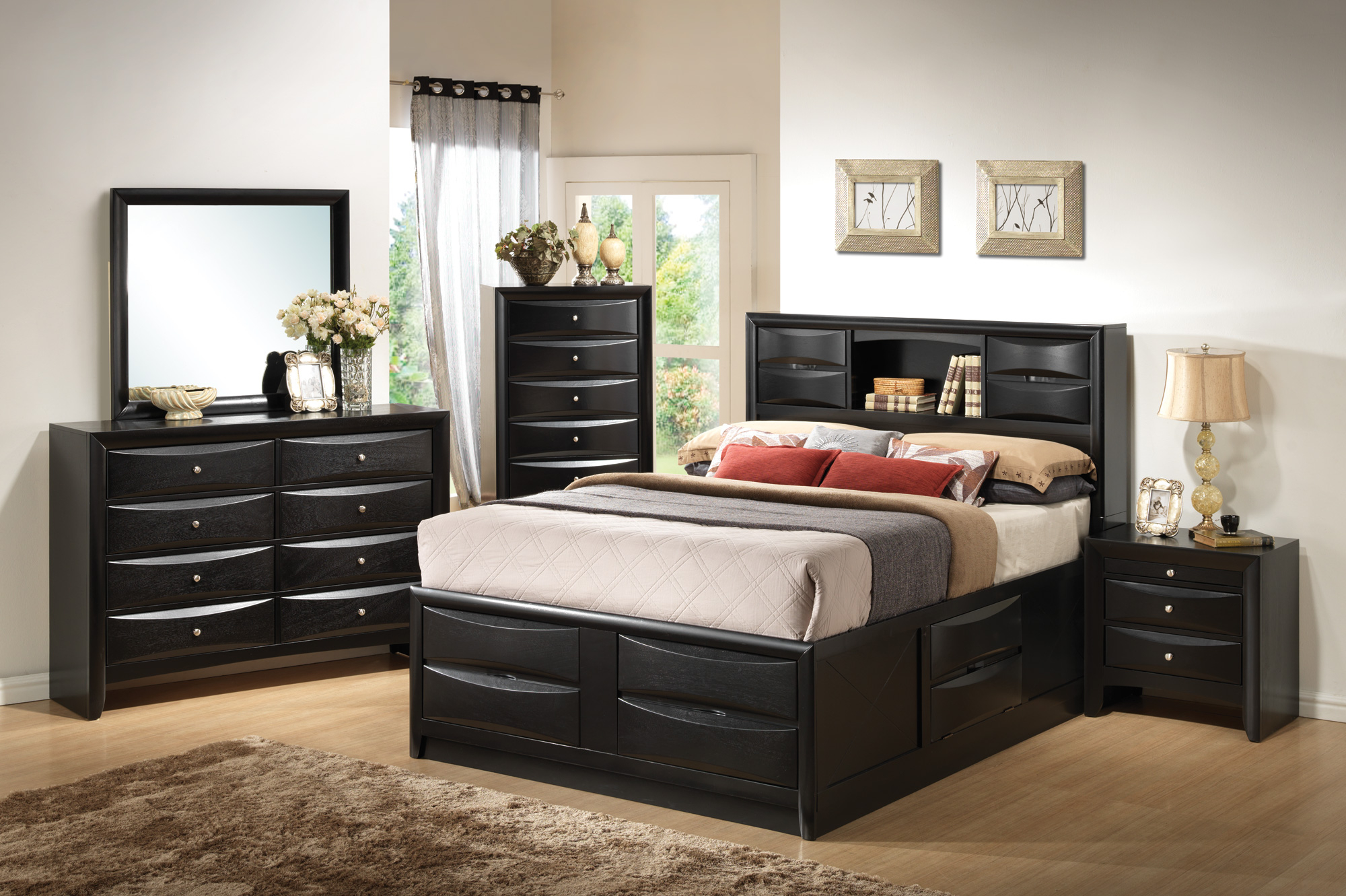 Coaster Briana Queen 5pc Storage Bedroom Set throughout Modern Bedroom Sets With Storage