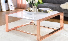 Details About Coffee Table Rose Gold White High Gloss Living Room Furniture Decor Living Room throughout 10 Some of the Coolest Designs of How to Improve High End Living Room Sets