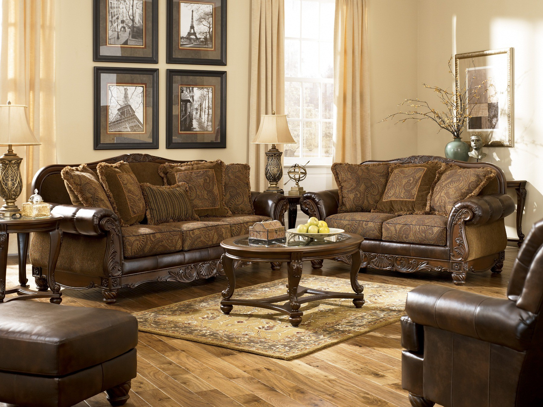 Fresco Durablend Antique Sofa in 10 Smart Concepts of How to Craft Living Room Set For Sale Cheap