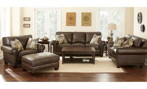 Gavin 4 Piece Top Grain Leather Set Livingroom Furniture inside 14 Genius Designs of How to Craft Costco Living Room Sets