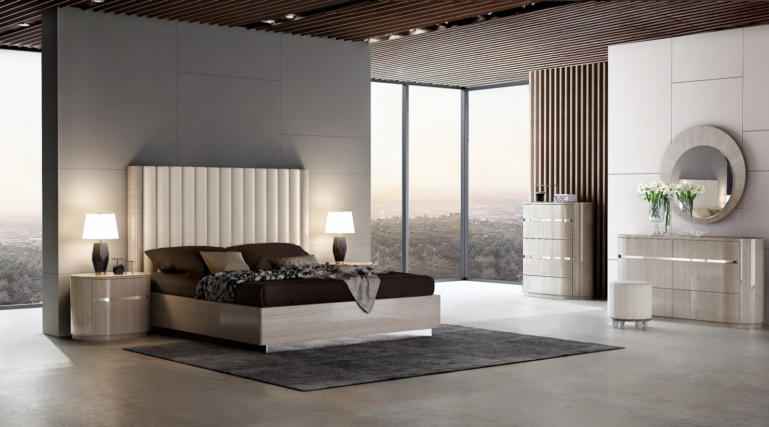 Giorgio Modern Bedroom Set with Modern Bedroom Collections