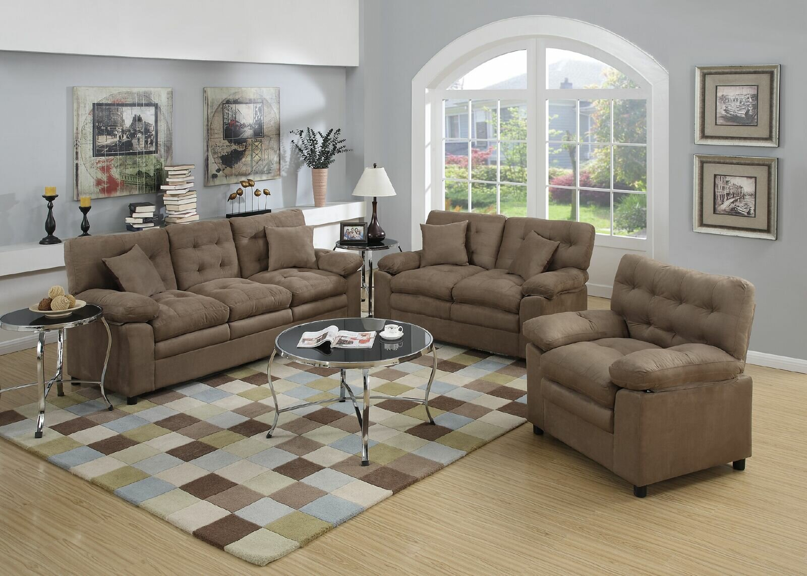 Hayleigh 3 Piece Living Room Set within Cheap 3 Piece Living Room Set