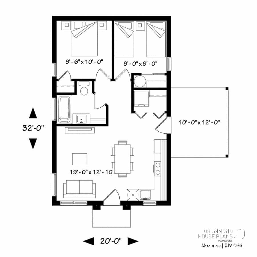 House Plan Maxence No 1910 Bh within Modern 2 Bedroom House Plans