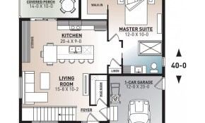 House Plan Solo No 3281 V2 within Modern One Bedroom House Plans