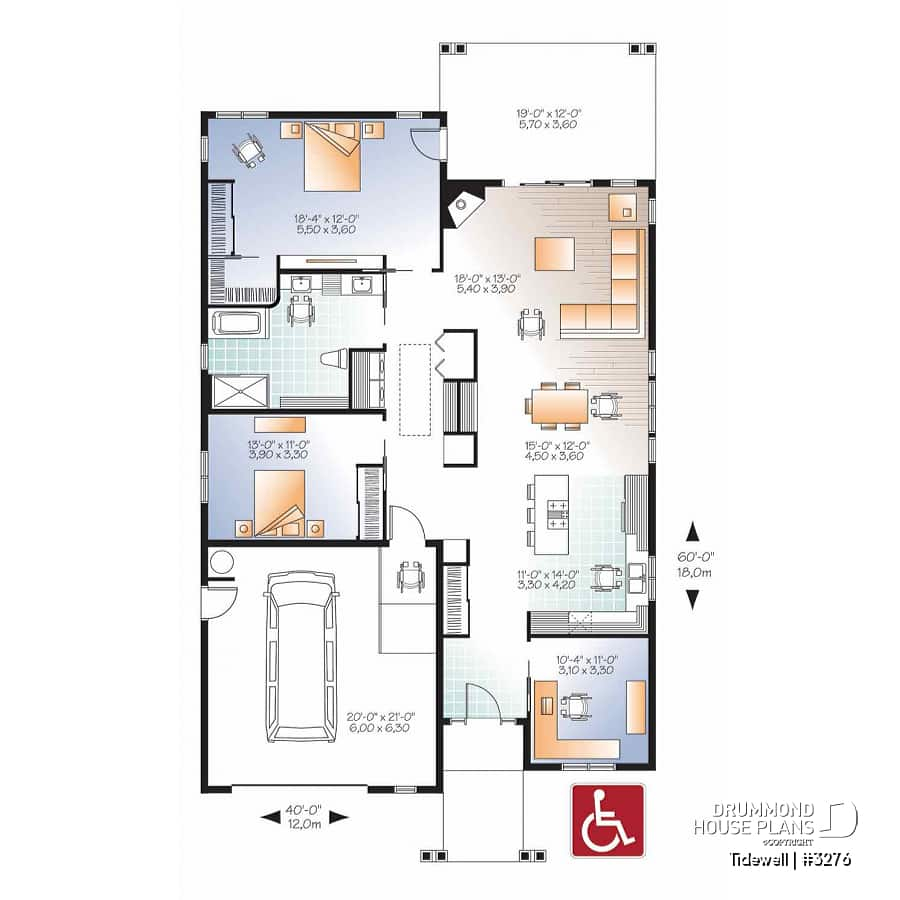 House Plan Tidewell No 3276 pertaining to 11 Smart Concepts of How to Upgrade Modern 3 Bedroom House Plans