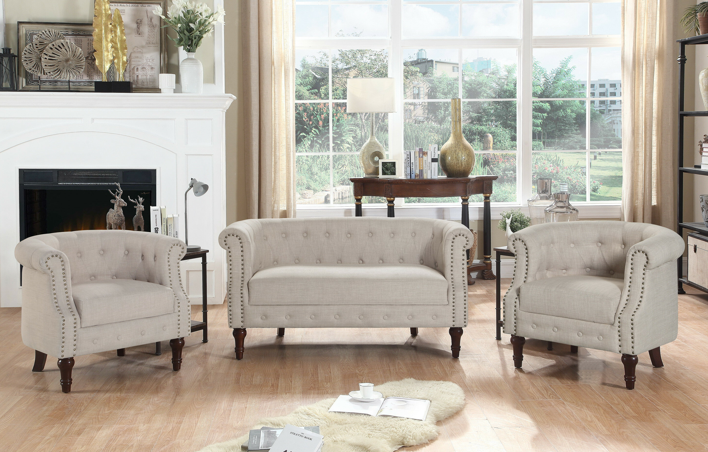 Kelty 3 Piece Living Room Set in Shop Living Room Sets