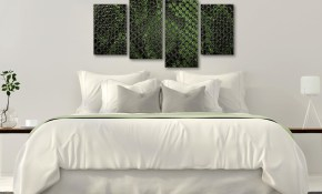 Large Dark Green Snakeskin Animal Print Abstract Living Room Canvas Pictures Decor 4475 130cm Set Of Prints within 11 Some of the Coolest Initiatives of How to Build Modern Bedroom Wall Art