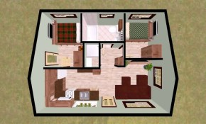 Low Budget Modern 2 Bedroom House Design Floor Plan Daddygif throughout Modern 2 Bedroom House Plans