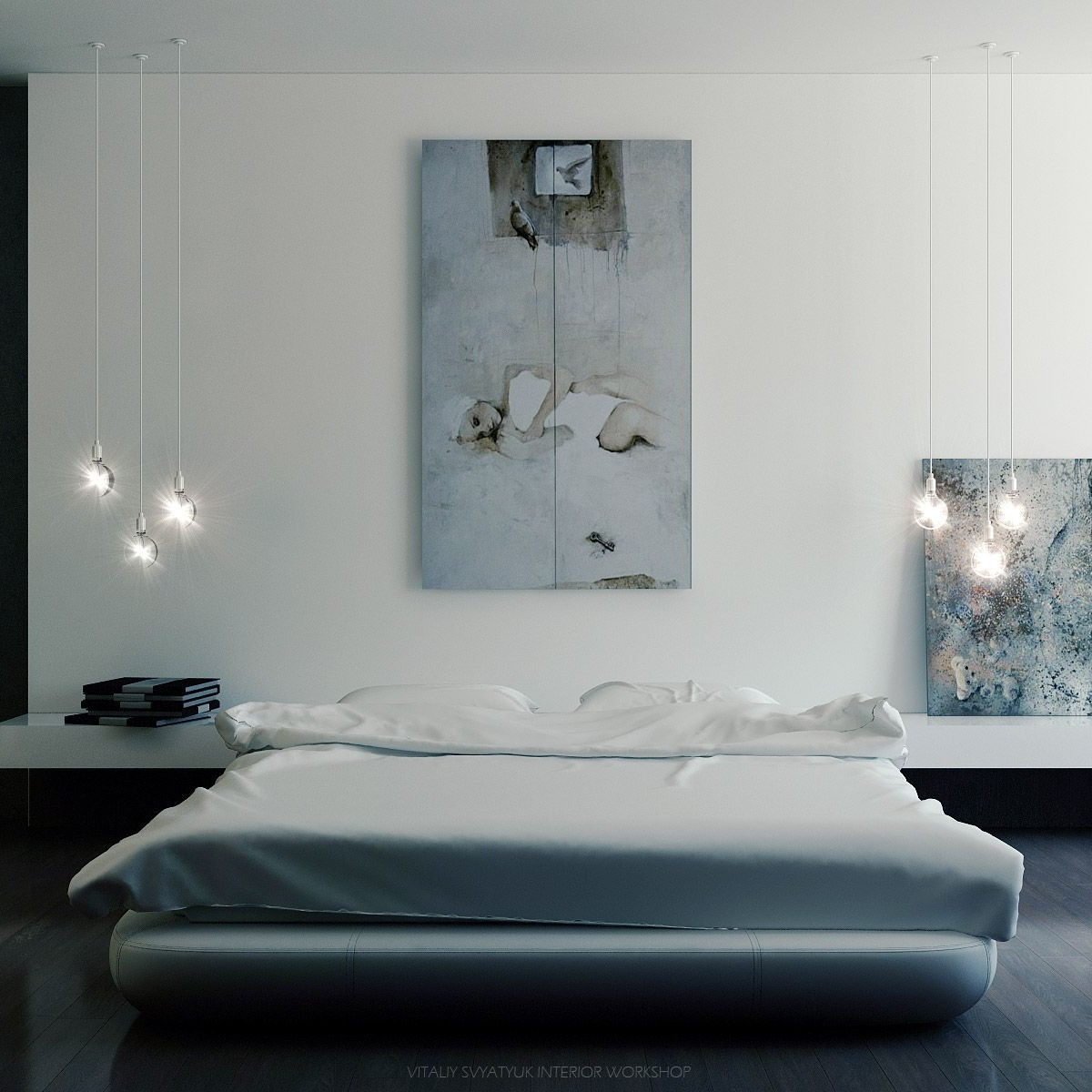 Modern Art Deco Master Bedroom Colin Timberlake Designs within Modern Art For Bedroom