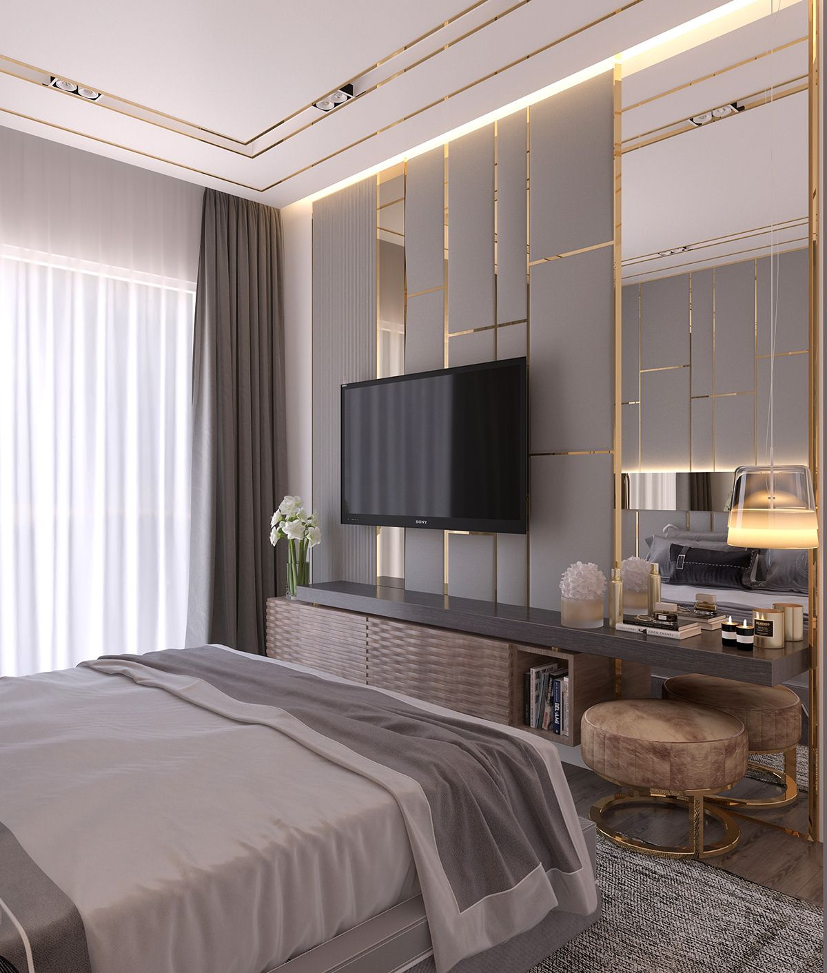 Modern Style Bedroom Dubai Project On Behance Bed Room In throughout 15 Clever Initiatives of How to Craft Modern Design Bedroom