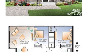 Modern Style House Plan 76437 With 2 Bed 1 Bath for 13 Smart Tricks of How to Improve Modern One Bedroom House Plans