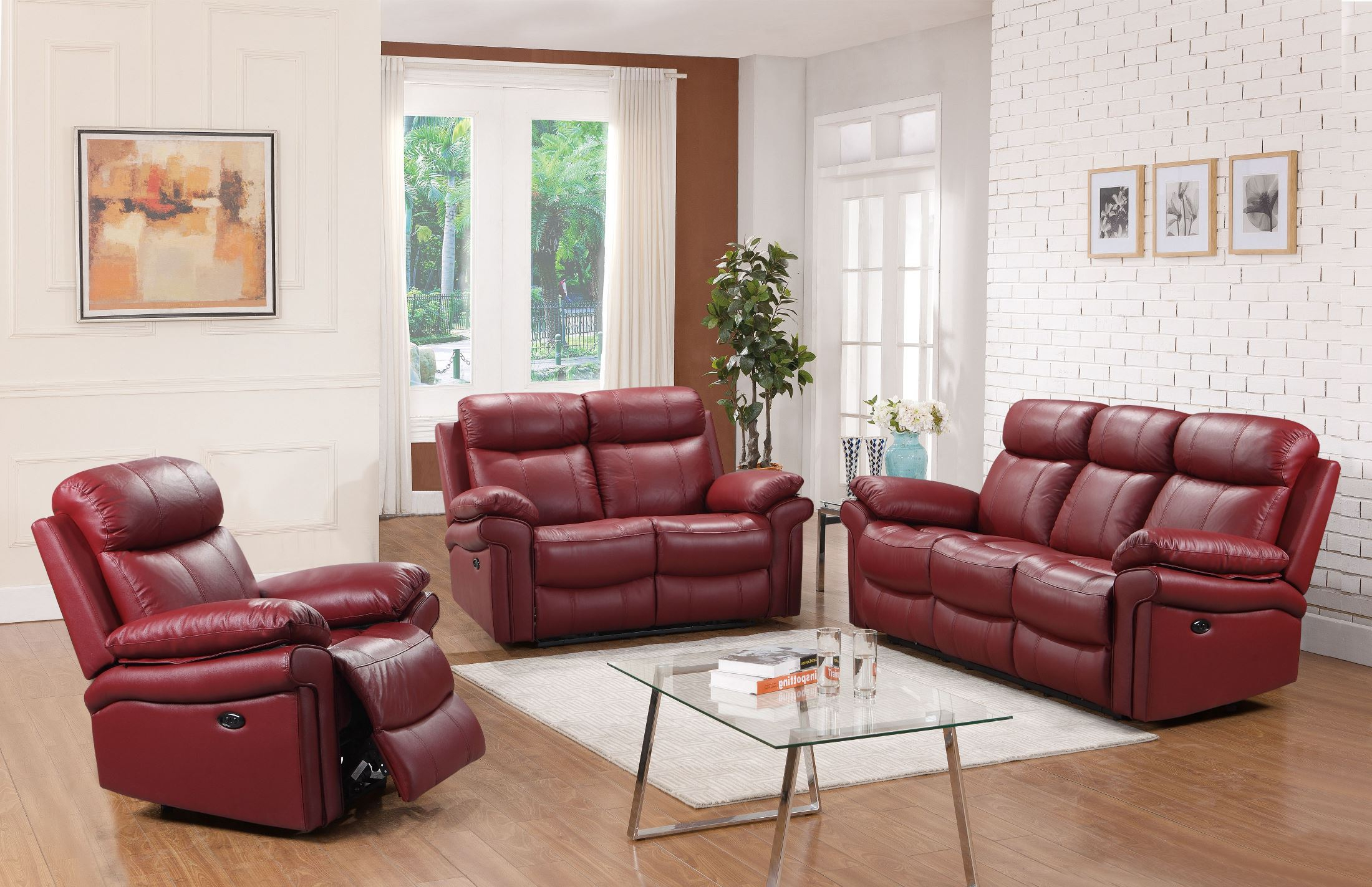 Shae Joplin Red Leather Power Reclining Living Room Set within 13 Awesome Designs of How to Improve Power Reclining Living Room Set