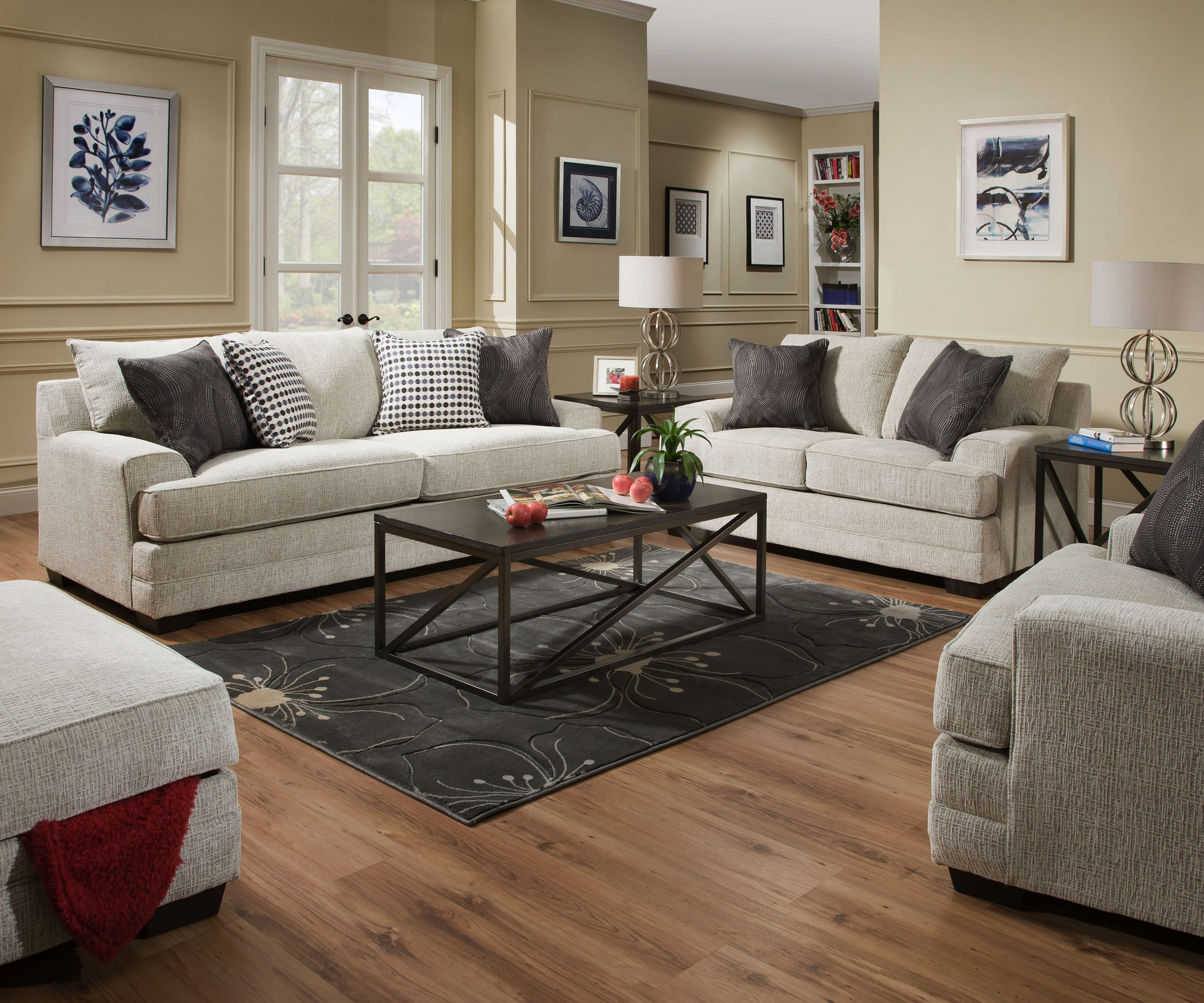 Simmons Upholstery 6548br 03 Dillon Driftwood 6548br 02 Dillon Driftwood 6548br 01 Dillon Driftwood regarding 3 Piece Living Room Set Cheap