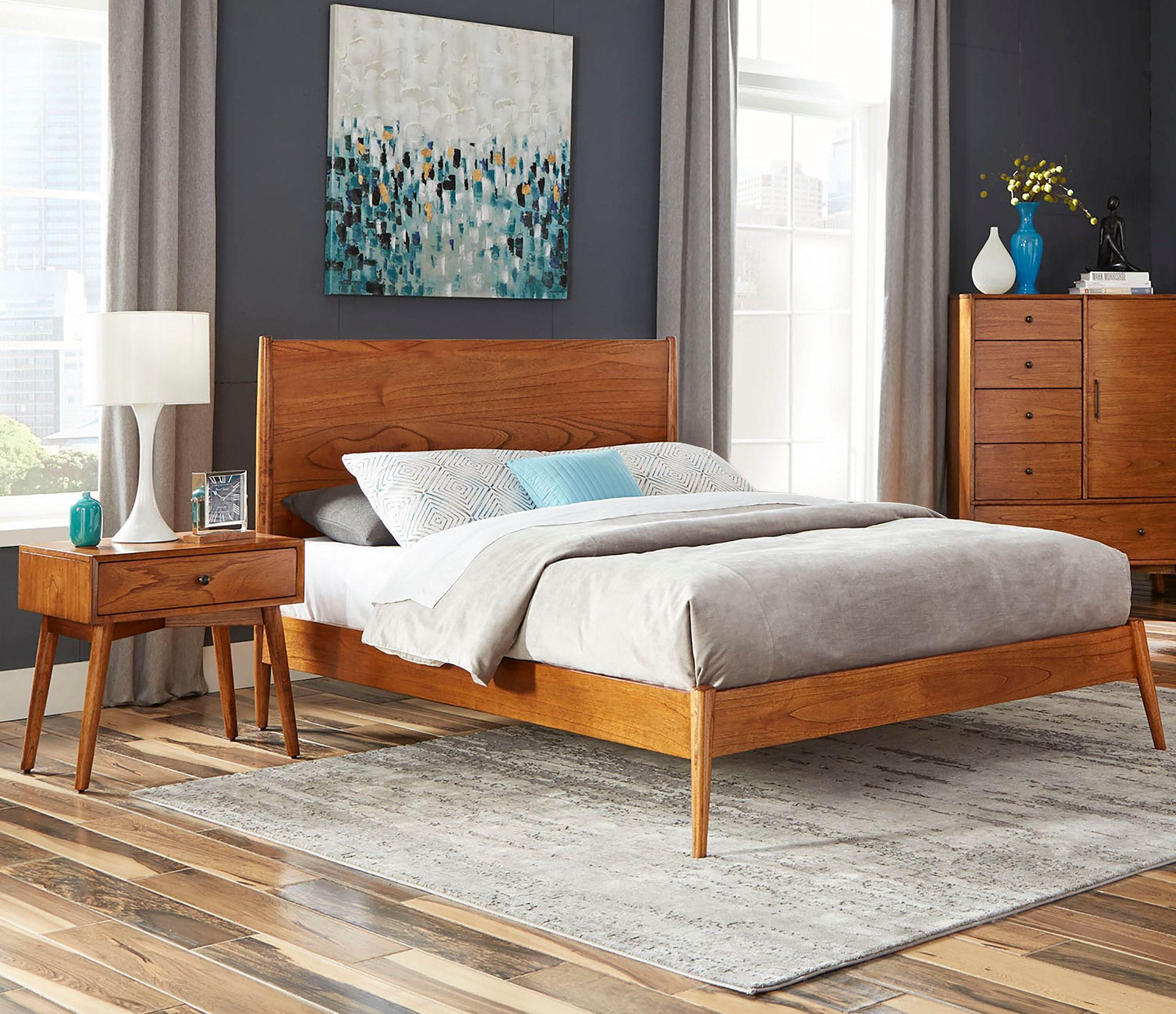 Sunny Designs American Modern Orange Brown 2pc Bedroom Set With King Bed in 10 Smart Concepts of How to Make Modern Bedroom Sets King