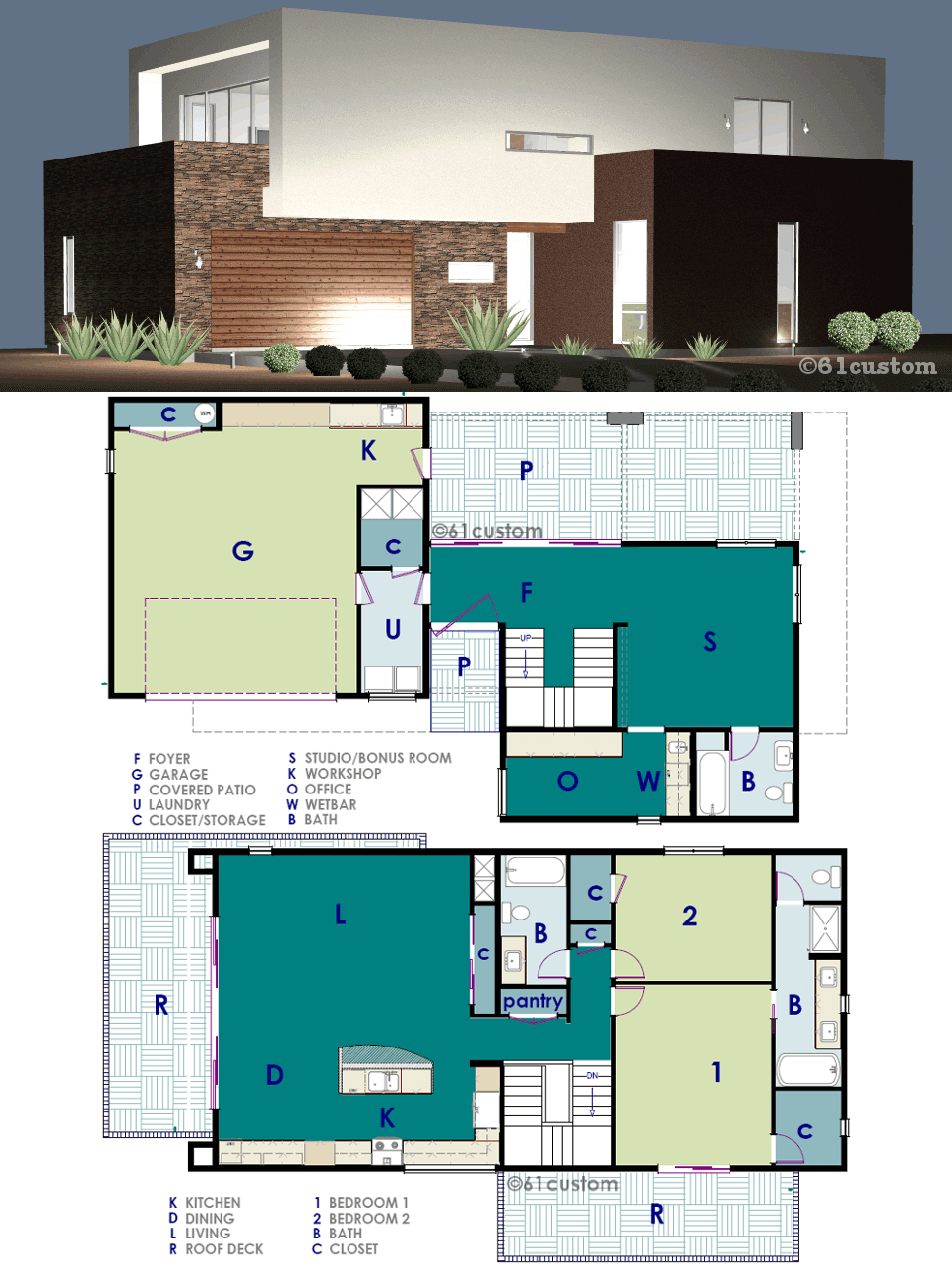 Ultra Modern Live Work House Plan pertaining to 11 Some of the Coolest Ideas How to Make Modern 2 Bedroom House Plans