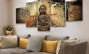 Us 683 40 Offwall Art Canvas Painting Modular Buddha Picture Modern Wall Decoration Framed Posters And Prints Living Room Bedroom Painting In regarding 11 Clever Ideas How to Build Modern Wall Art For Bedroom