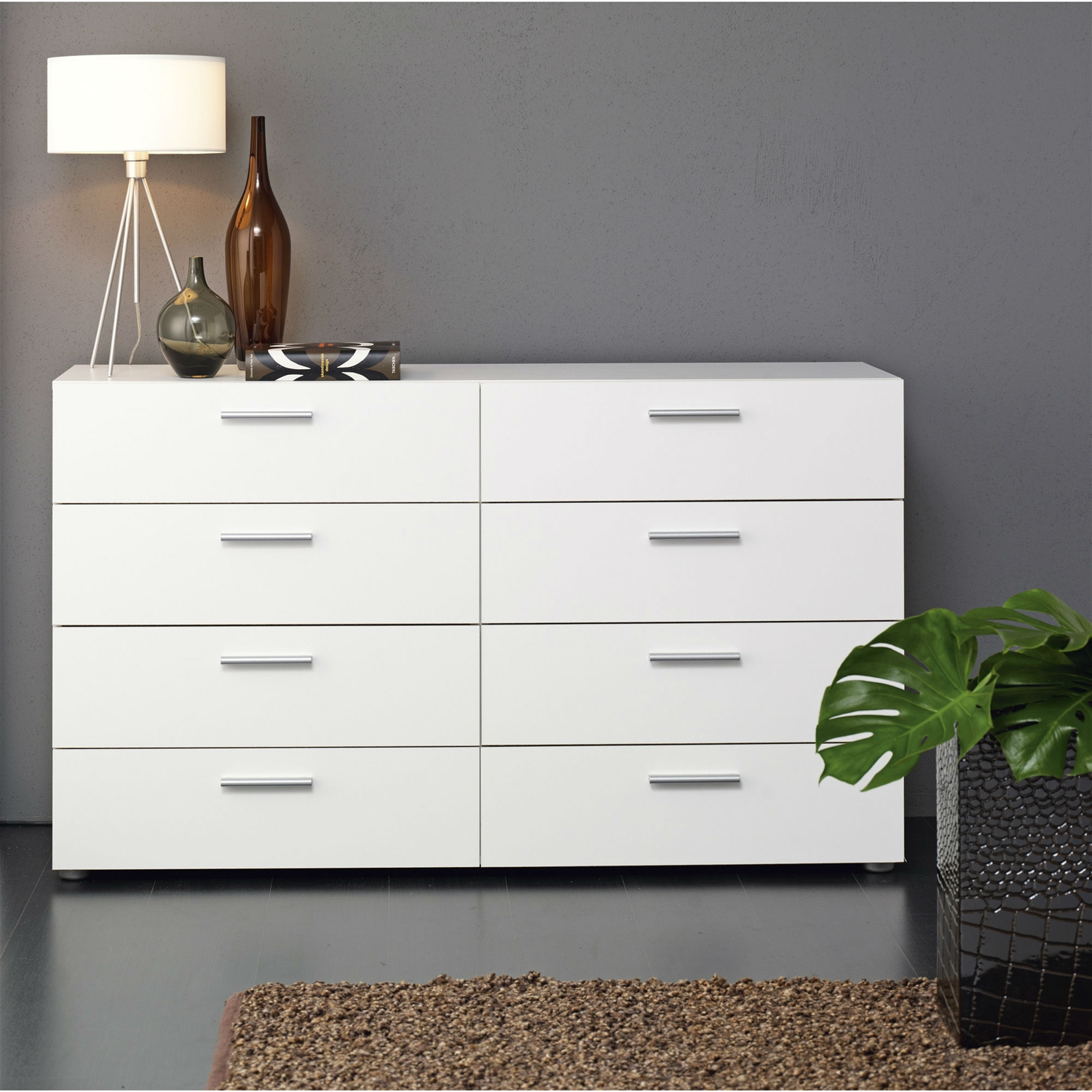 White Modern Bedroom 8 Drawer Double Dresser with regard to 15 Some of the Coolest Ideas How to Make Modern Bedroom Dressers