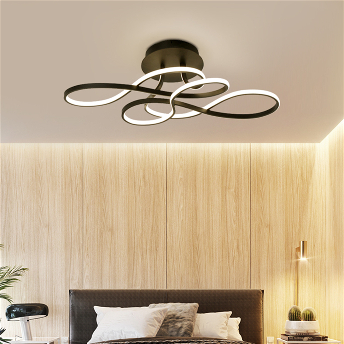 110v Led Modern Acrylic Chandelier Living Room Ceiling Light Pendant Lamp Fixtur with Modern Bedroom Ceiling Light