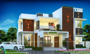 2205 Sq Ft 3 Bedroom Modern Contemporary House Plan Kerala intended for Modern Three Bedroom House Design