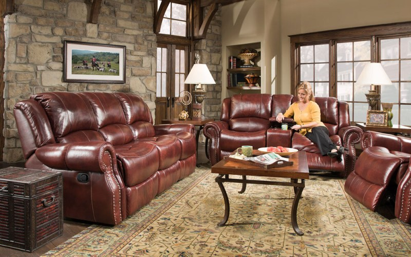 Additri Reclining 3 Piece Leather Living Room Set intended for Three Piece Leather Living Room Set
