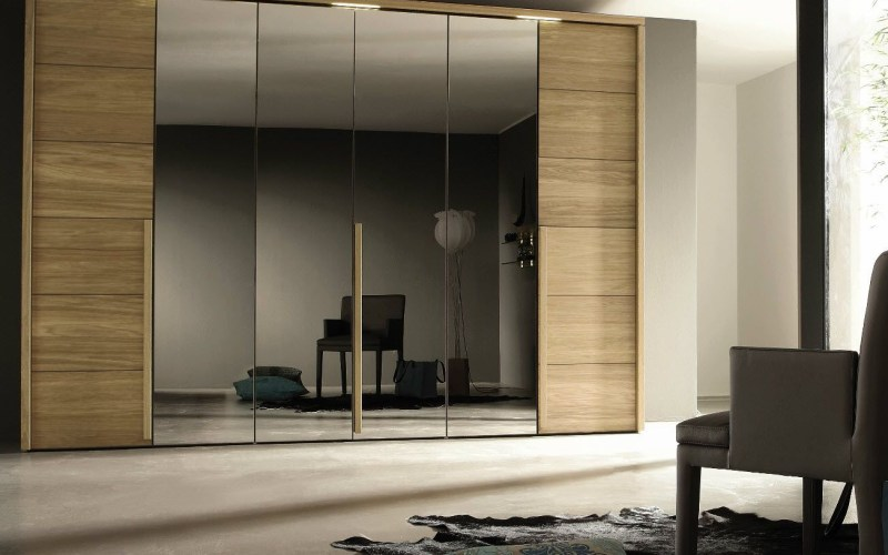 Furniture Beautiful Wooden Glass Laminate Large Wardrobe intended for 15 Some of the Coolest Concepts of How to Make Modern Bedroom Wardrobe