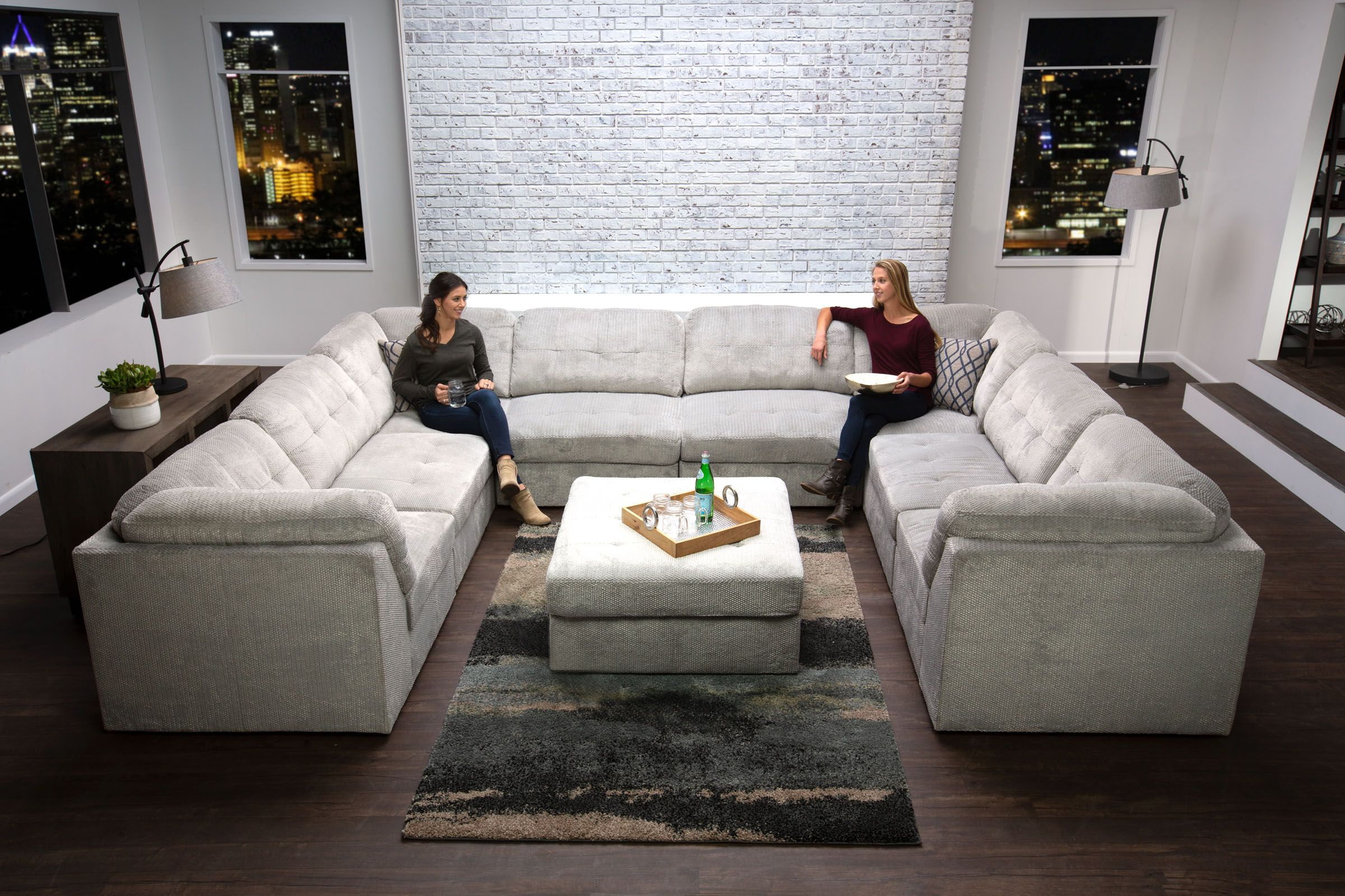 Granada 8 Piece Sectional Ottoman Products In 2019 inside 8 Piece Living Room Set