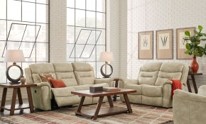Halton Hills Sand 3 Pc Living Room With Reclining Sofa For regarding 12 Smart Concepts of How to Make Living Rooms Sets For Sale