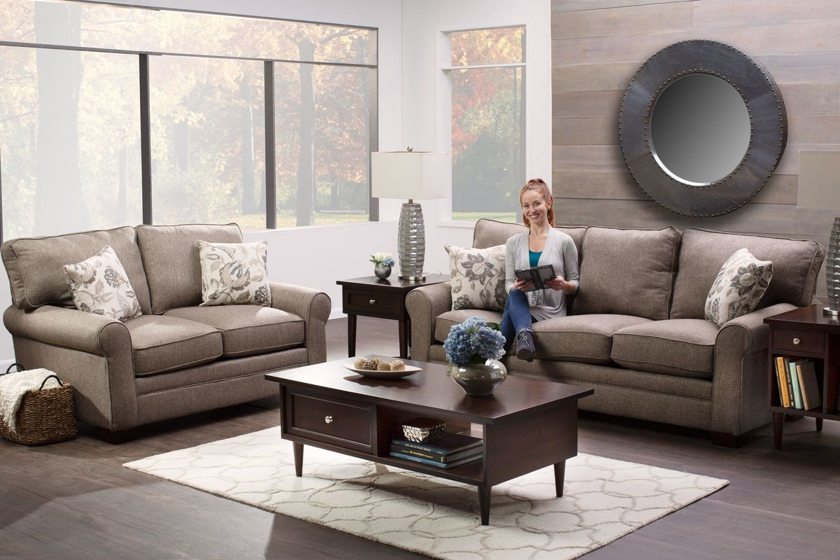 Kirsten 8 Piece Big Picture Package In Brown With 50 Led Tv intended for 15 Clever Ways How to Build 8 Piece Living Room Set