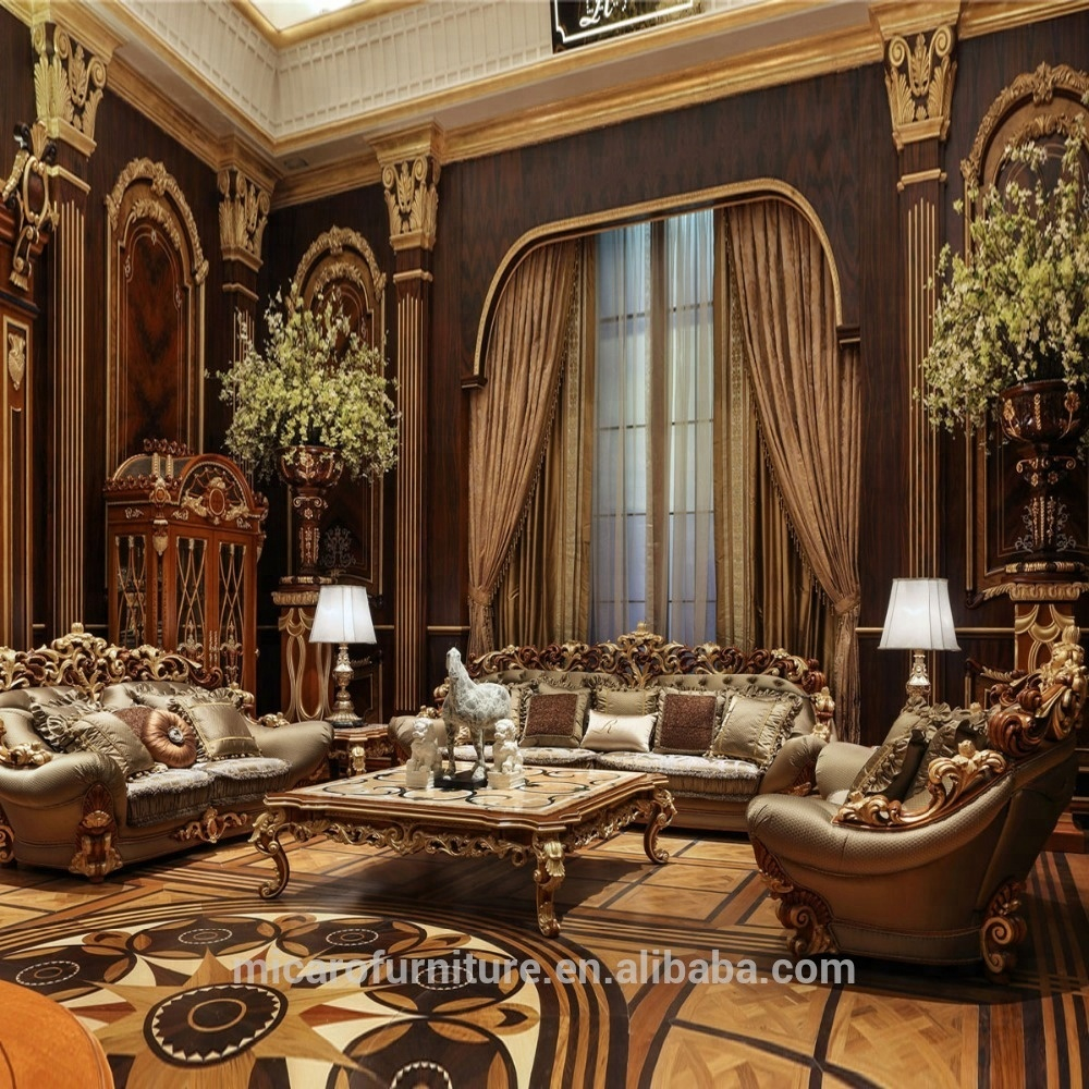 Wooden Carved Italian Classic Style Luxury Living Room Furniture Sofa Sets With Natural Mable Top Coffee Table Buy Living Room Furniture Sofa intended for Wooden Living Room Sets