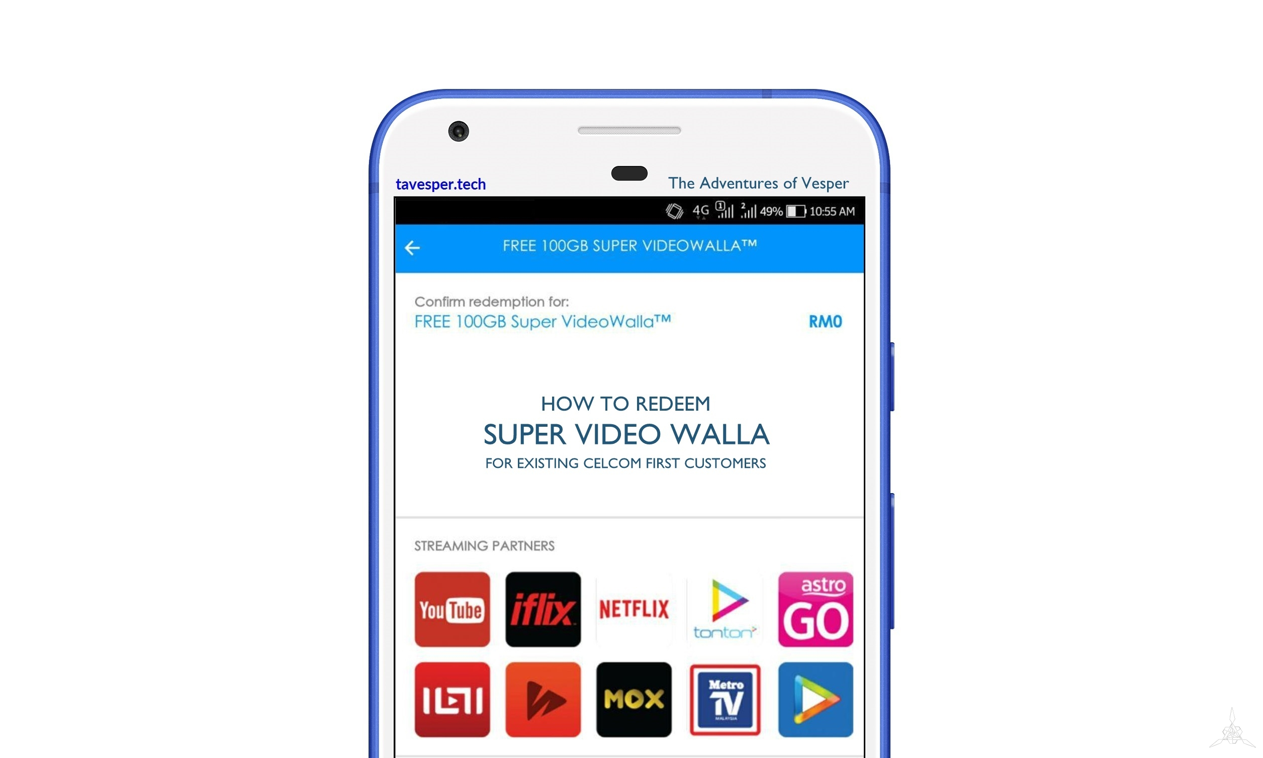 How to Redeem Celcom FIRST Super Video Walla for Existing Users
