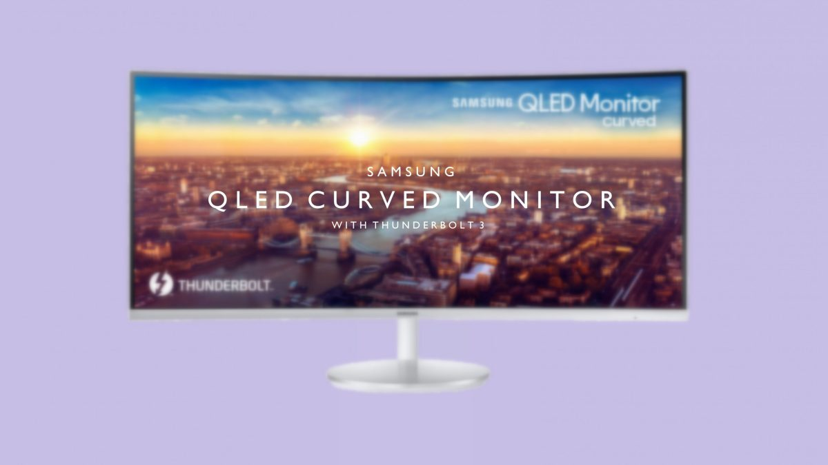 CES 2018: Samsung Unveiled their First Curved Thunderbolt 3 QLED Monitor