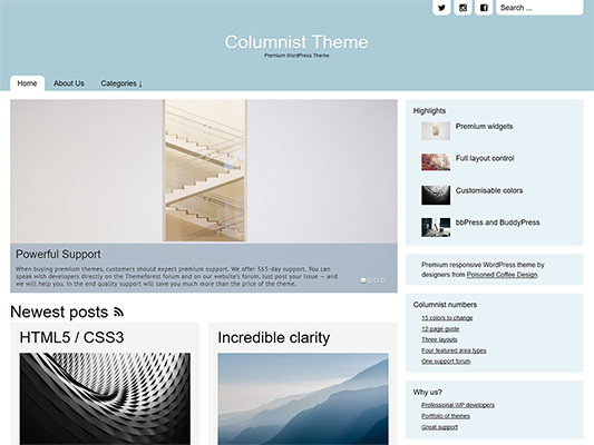 columnist WordPress theme